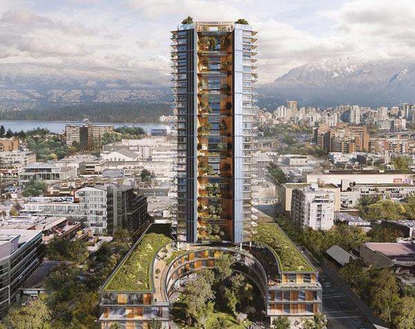дървен небостъргач