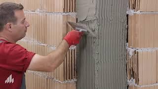 Обличане на колони с керамични блокове Porotherm 38 N+F Comfort