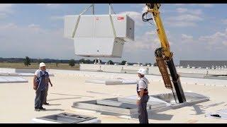 Монтаж на покривен апарат за децентрализирана климатизаци